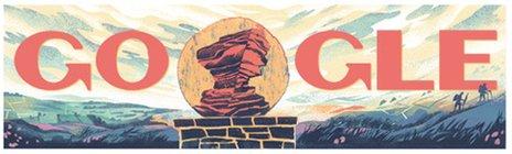 Peak District Google Doodle