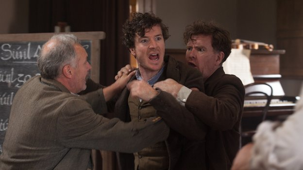 Barry Ward (centre) in Jimmy's Hall