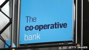 A Co-operative Bank sign on April 11, 2014 in London