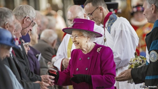 The Queen meeting well wishers at Blackburn Cathedral