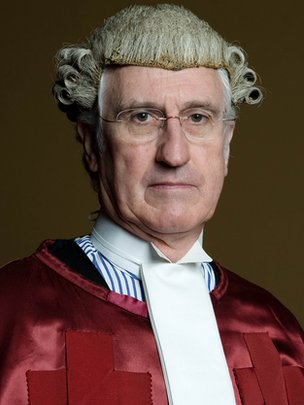 Lord Gill in his civil robes