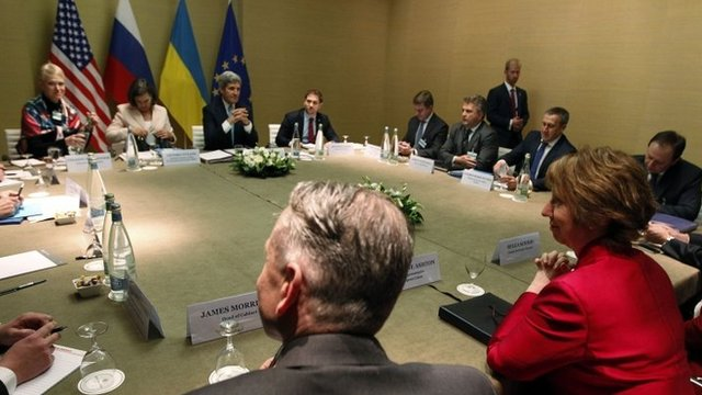 Deal struck to calm Ukraine crisis...
