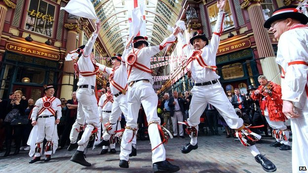 Morris dancers  in Leadenhall market
