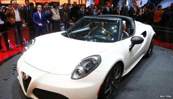 Alfa Romeo car at NY Auto show