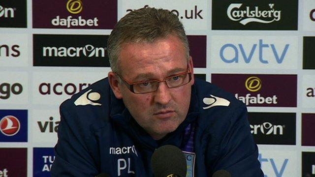 "Paul Lambert on his ""intention"" to remain at Aston Villa"