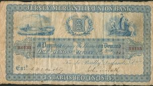Jersey Mercantile Union £1 bank note