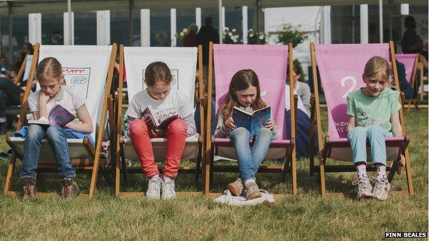 Girls at Hay Festival