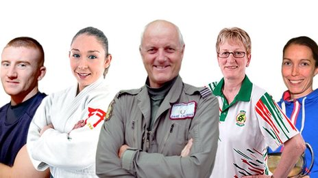 Paddy Barnes, Lisa Kearney, David Calvert, Barbara Cameron and Madeline Perry