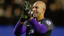 Everton goalkeeper Tim Howard