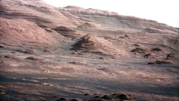 Layers at base of Mt Sharp