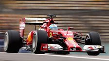 Fernando Alonso of Spain and Ferrari drives during practice ahead of the Chinese Formula One Grand Prix at the Shanghai International Circuit on April 18, 2014.