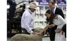 Duchess of Cambridge strokes a ram