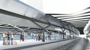 Artist's impression of the new platforms at London Bridge