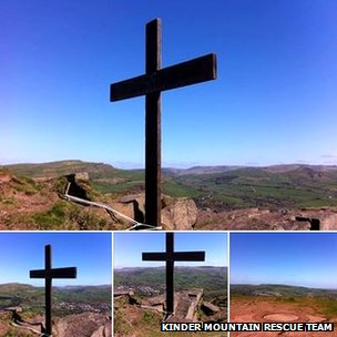 Easter Cross on Eccles Pike overlooking Chinley