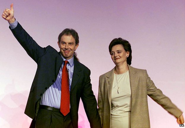 Tony and Cherie Blair at the 2000 Labour Party conference