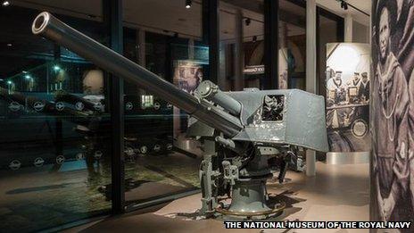 The gun from HMS Lance
