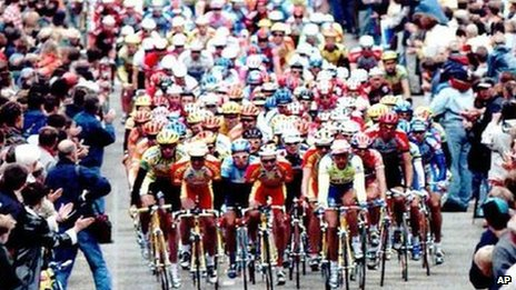 Tour de France cyclists