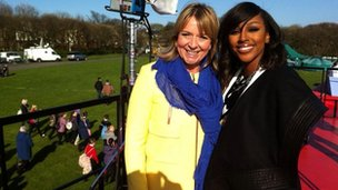 Fern Britton with Alexandra Burke