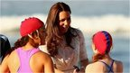 Duchess of Cambridge meets lifeguards