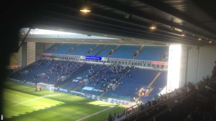 Yeovil fans at Ewood Park