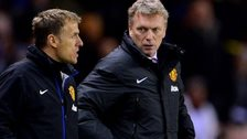 Phil Neville and Manchester United manager  David Moyes