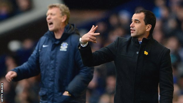David Moyes and Roberto Martinez