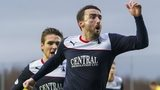 Falkirk midfielder Mark Millar celebrates