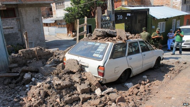 Earthquake damage in Chilpancingo