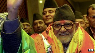 Nepali Prime Minister Sushil Koirala