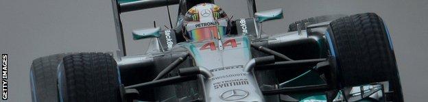 Lewis Hamilton driving