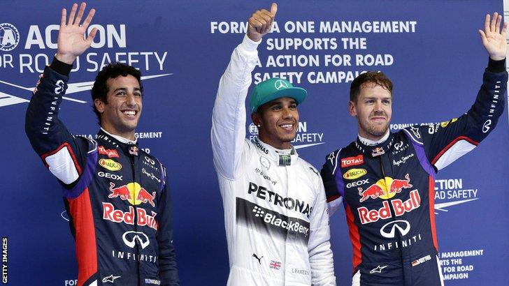 Drivers celebrating