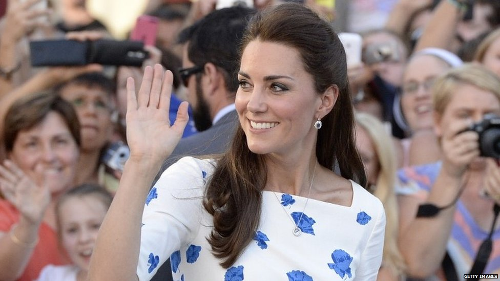 Duchess of Cambridge in Brisbane, Australia, on 19 April