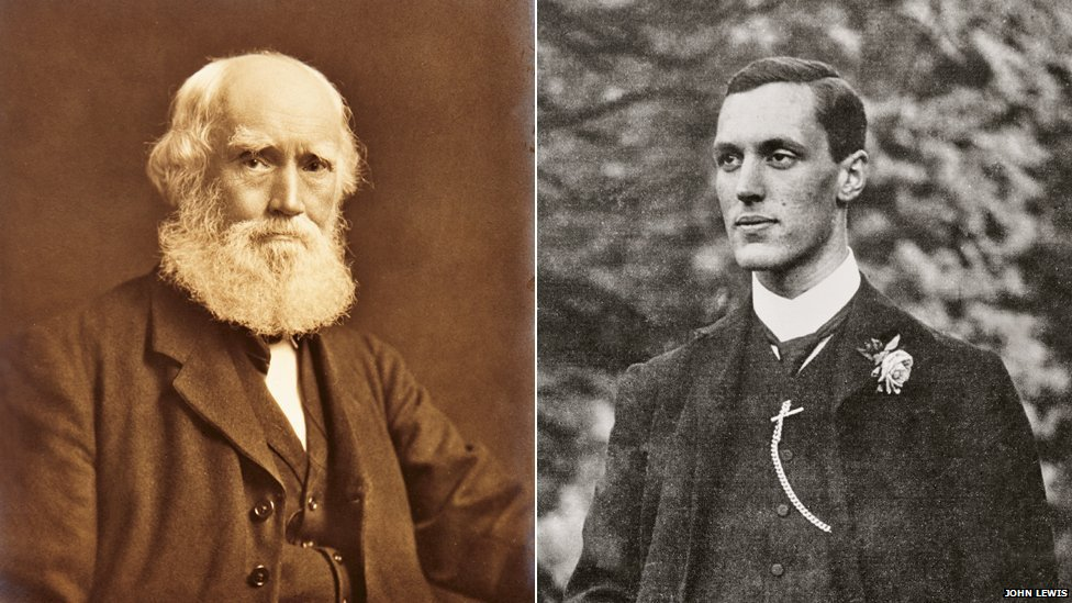 John Lewis and his son John Spedan Lewis