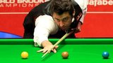 Ronnie O'Sullivan in his first round match against Robin Hull