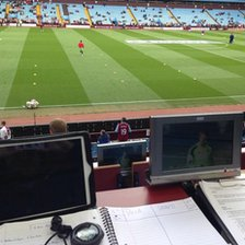 Press box at Villa Park