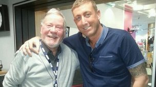 Billy Butler with Chris Maloney