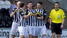 St Mirren scored after 13 seconds against Hibs