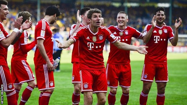 Bayern Munich celebrate
