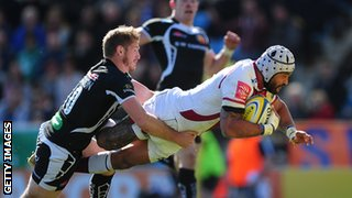 Exeter take on Sale Sharks