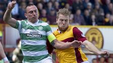 Motherwell 3-3 Celtic: Scott Brown battles with Henri Anier