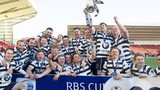 Heriot's celebrate their RBS Cup win
