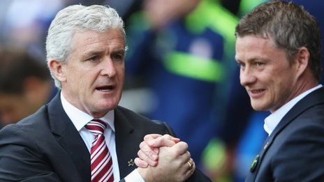 Mark Hughes and Ole Gunnar Solskjaer