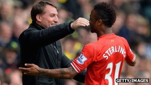 Brendan Roger and Raheem Sterling