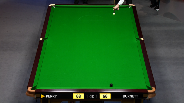 World Championship Snooker: Jamie Burnett fluke v Joe Perry