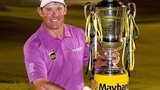 Lee Westwood with the Malaysian Open trophy