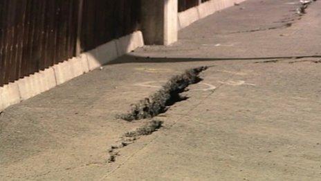 Cracks in Weymouth ferry berth