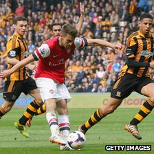Aaron Ramsey scored the opening goal