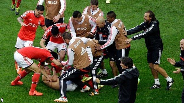 Benfica celebrate