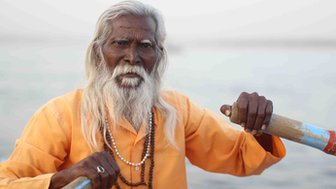 A Hindu priest in Varanasi