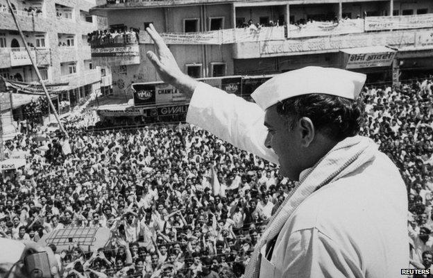 File picture of Rajiv Gandhi